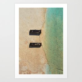 Blue on Wall Art Print