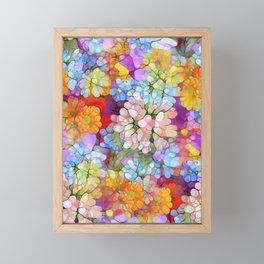 Rainbow Flower Shower Framed Mini Art Print