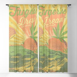 TANGERINE DREAM Sheer Curtain