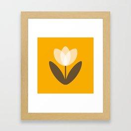 Tulip in Mustard Yellow Framed Art Print