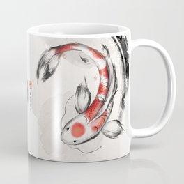 Good Luck And Peace Koi Japanese Ink Coffee Mug