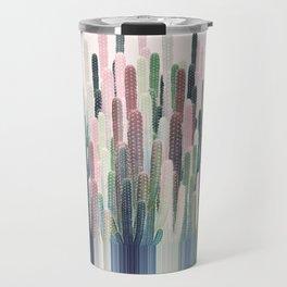 Cacti Stripe Pastel Travel Mug