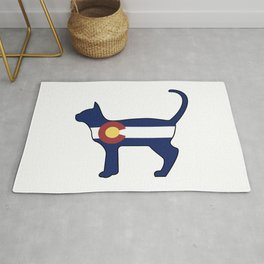 State of Colorado Flag for Cat Lovers Rug