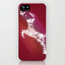 In Search Of Peace - (Maroon) iPhone Case