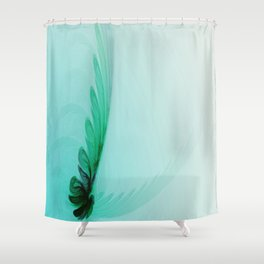 With Brave Wings She Flies Shower Curtain