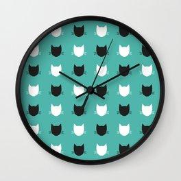 Cat Pattern 03 Wall Clock