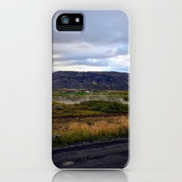 Looking up at Efsti-Dalur Farm in Laugarvatn, Iceland iPhone Case