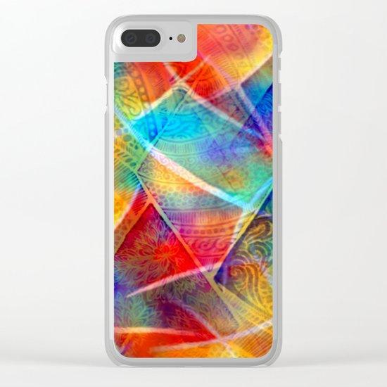 Boho Rainbow Clear iPhone Case