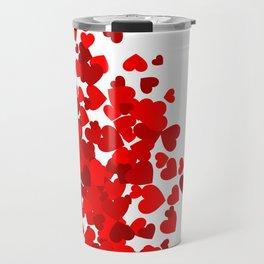 Hearts falling out of an envelope Travel Mug