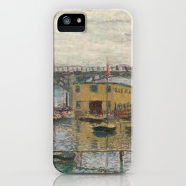 Claude Monet Bridge at Argenteuil on a Gray Day iPhone Case