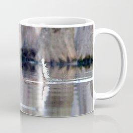 Watercolor Deer, Eastern Whitetail 13, Merchants Millpond, North Carolina, Swim for Life Coffee Mug