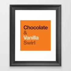 Chocolate & Vanilla Swirl OITNB Framed Art Print