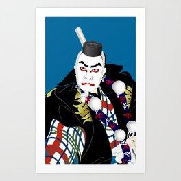Kabuki actor vector #2 Art Print