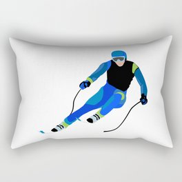 Skiing Rectangular Pillow