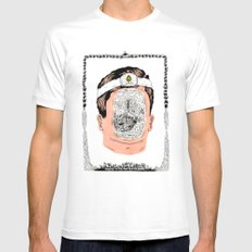 Journey to the center of the earth White Mens Fitted Tee MEDIUM