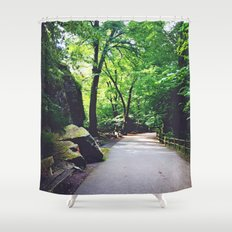 A Woodland Path Shower Curtain