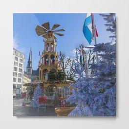 Luxembourg winter turbine Metal Print