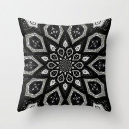 Black and White Pattern 07 Throw Pillow