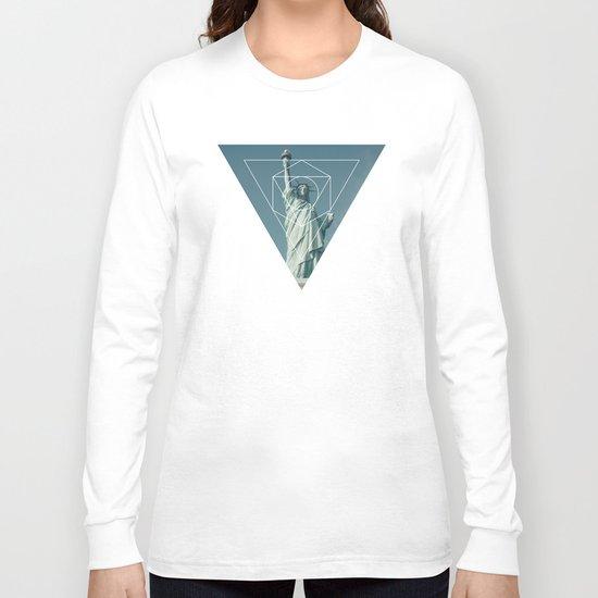 Statue of Liberty - Geometric Photography Long Sleeve T-shirt