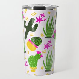 Cactus Pattern of Succulents Travel Mug