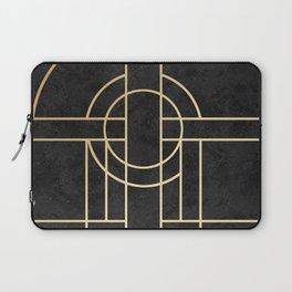 Art Deco Black Marble Laptop Sleeve