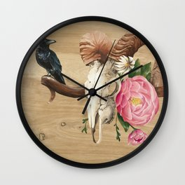 Aries and the Raven Wall Clock