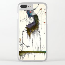 Fishing Witch on Stilts Clear iPhone Case