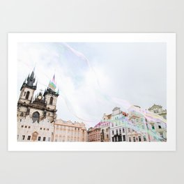 Bubbles in Prague Art Print
