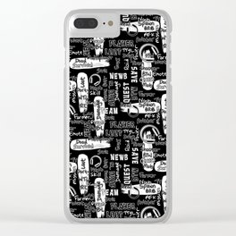 Gamer Lingo-Black and White Clear iPhone Case
