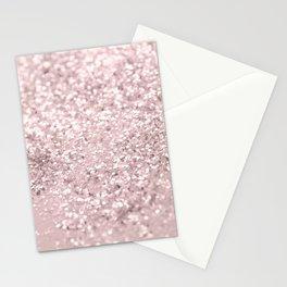Blush Glitter Dream #1 #shiny #decor #art #society6 Stationery Cards