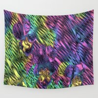 psychedelic Wall Tapestries featuring Psychedelic by Dorothy Pinder