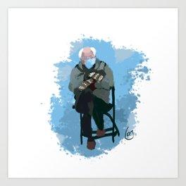 Hygge Bernie Art Print