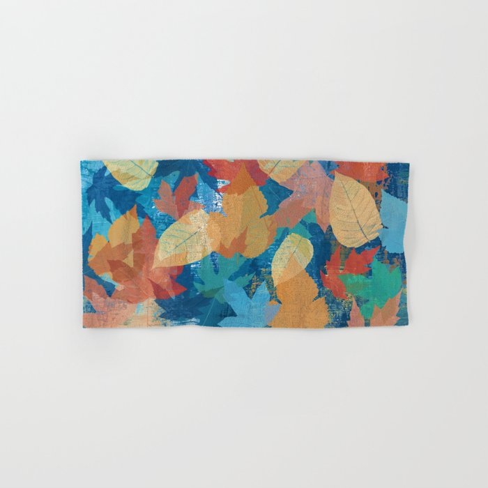 Colorful fall leaves Hand & Bath Towel