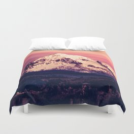 Mt Hood Mountain with Snow Duvet Cover