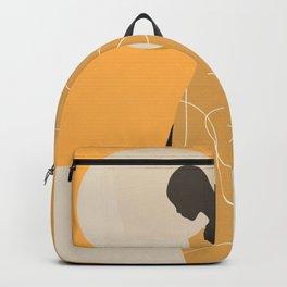 Minimal Abstract Art Sunset Girl 9 Backpack