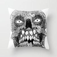 teeth Throw Pillows featuring Teeth by PCRK