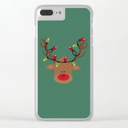 Rudolph the Reindeer Clear iPhone Case