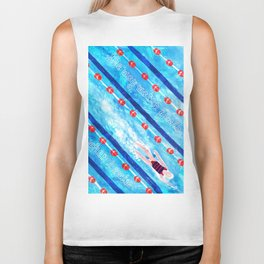 The way water feels on my skin when I swim | By Priscilla Li Biker Tank