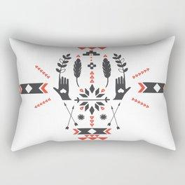 Norwegian Folk Graphic Rectangular Pillow
