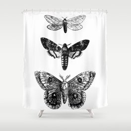 Vintage Butterflies Shower Curtain