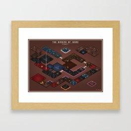 The Binding of Isaac - Floor Plan (No Names Variant) Framed Art Print