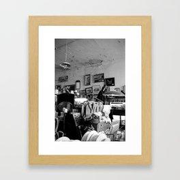 Old Curiosity Shoppe, Suisun City, CA - inside  Framed Art Print