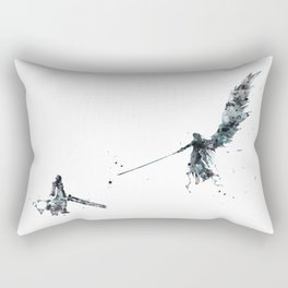 Final Fantasy Watercolor Rectangular Pillow