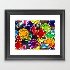 Gemstones Framed Art Print
