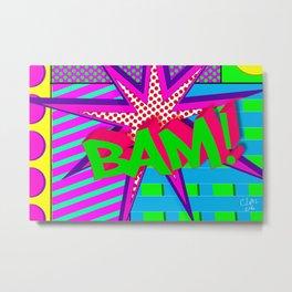 Bam Pop Art Explosion Metal Print