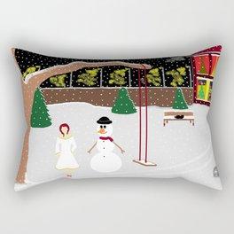 The Snowman Rectangular Pillow