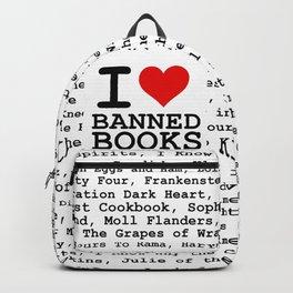 I Heart Banned Books Backpack