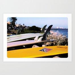 Vintage Longboards by the sea Art Print