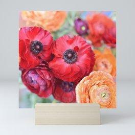 Rosey Ranunculus Mini Art Print