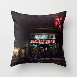 Night Street Scene in New York City Throw Pillow